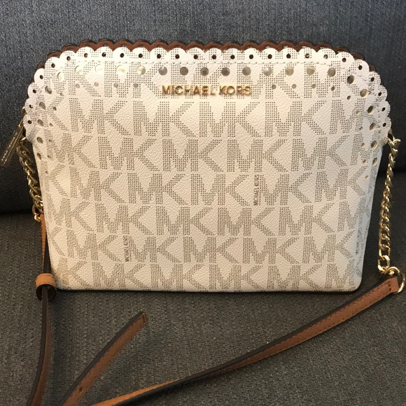 NEW Michael Kors Cindy Dome Scalloped Crossbody NWT